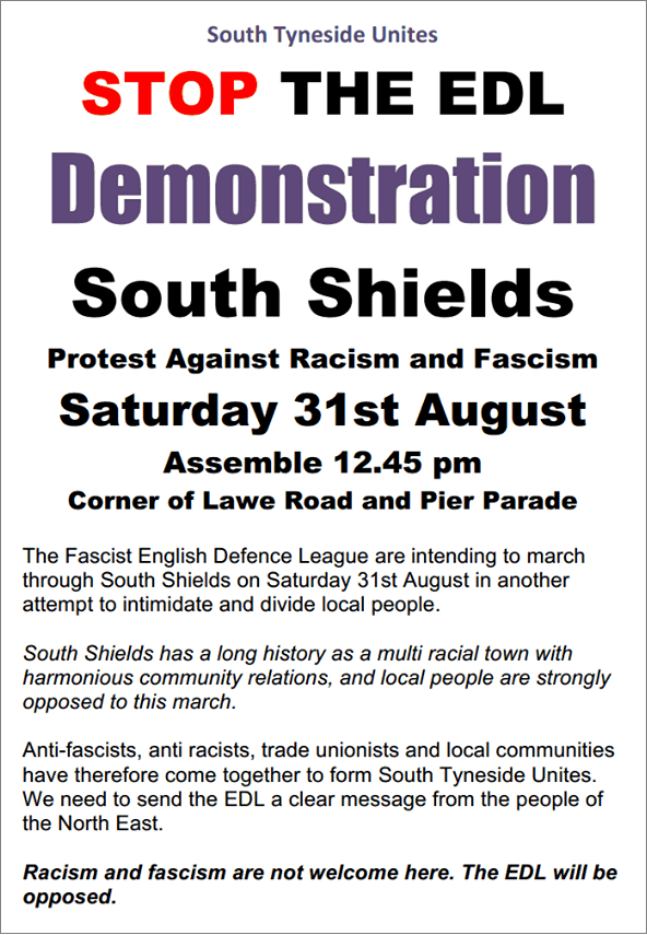 South Tyneside Unites counter-demonstration