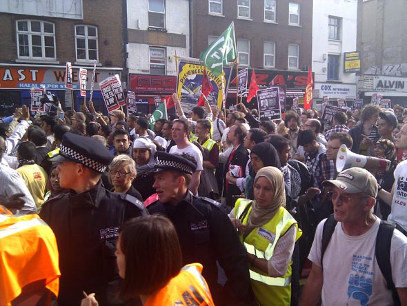 Tower Hamlets anti-EDL protest (2)