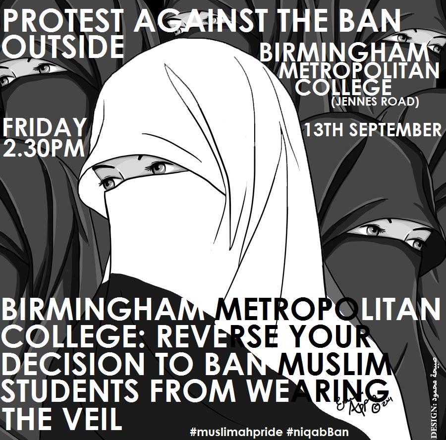 Birmingham niqab ban protest