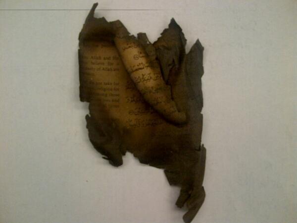 Burnt Quran Tampa Florida