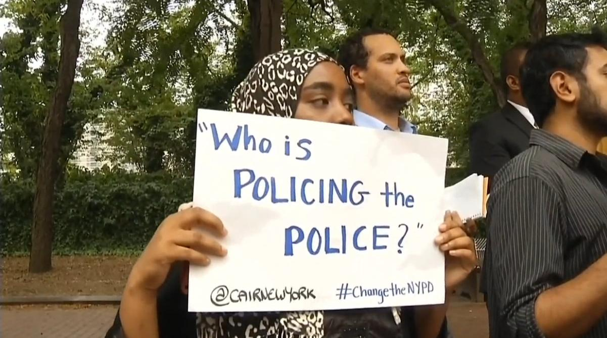 CAIR Who is policing the police sign