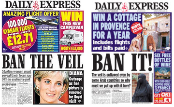 Express veil ban headlines 2006 (2)