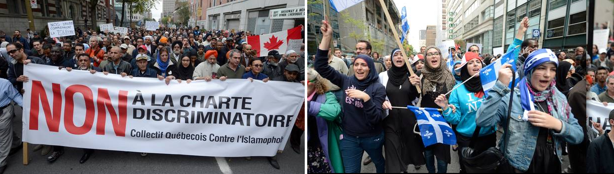 Montreal protest against PQ charter