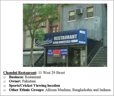 NYPD spies on cricket fans