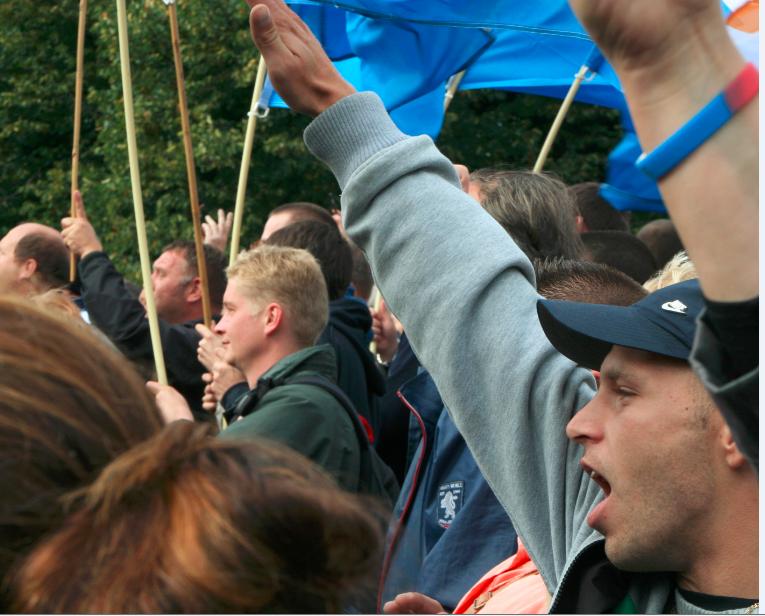 PVV rally Nazi salute