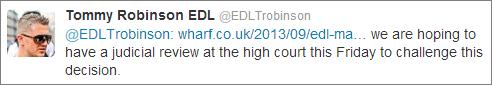Stephen Lennon responds to EDL Tower Hamlets ban