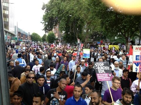 Tower Hamlets anti-EDL demo 2013 (3)