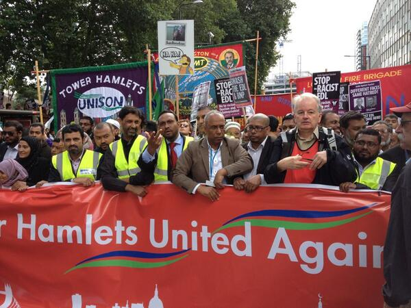 Tower Hamlets anti-EDL demo 2013