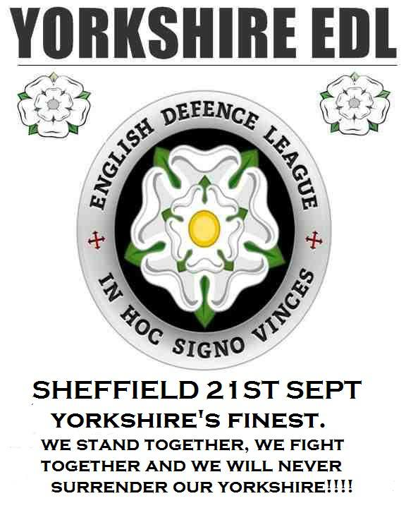 Yorkshire EDL Sheffield anti-mosque protest