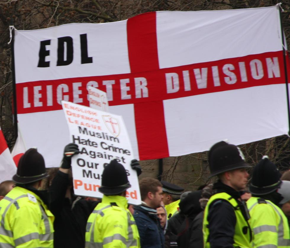EDL Leicester Division banner