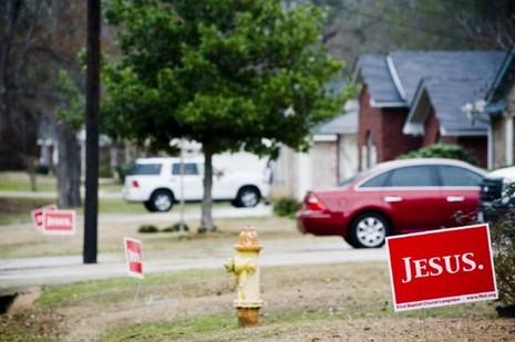 Longview Jesus Yard Signs