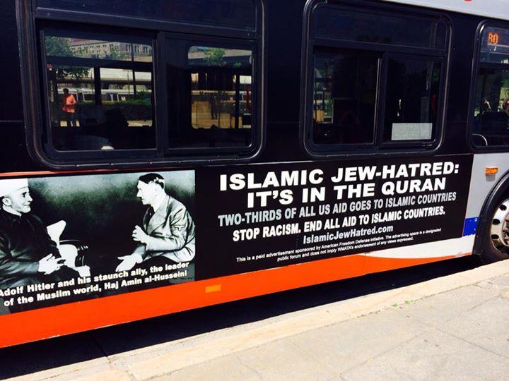 AFDI Islamic Jew hatred ad