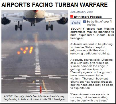 Airports facing turban warfare Daily Star