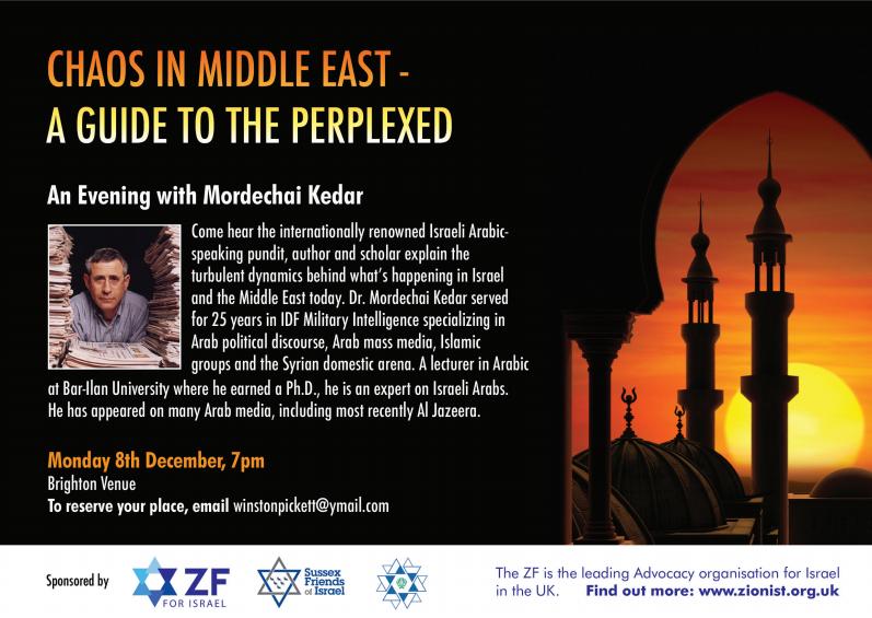 An Evening with Mordechai Kedar Brighton