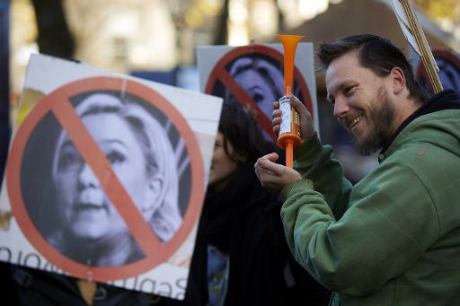 Anti Le Pen protest The Hague November 2013