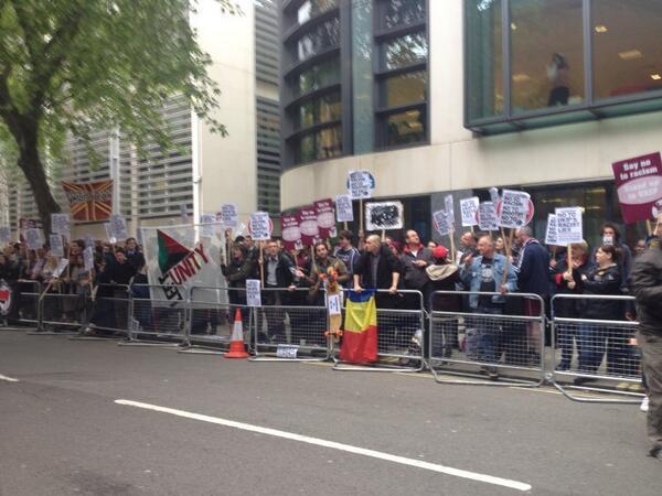 Anti-UKIP protest