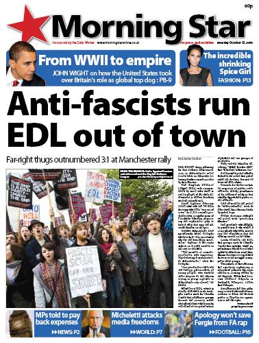 Anti-fascists run EDL out of town