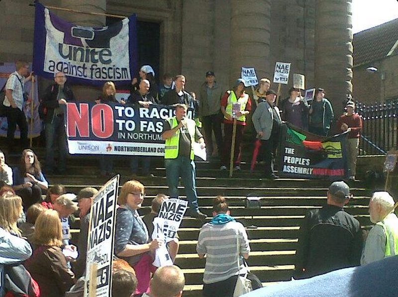 Berwick anti-fascist protest