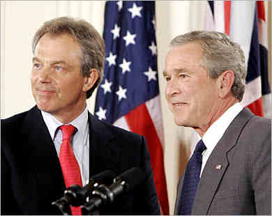 Blair with Bush