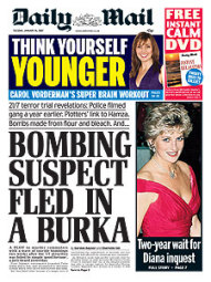 Bombing suspect fled in a burka