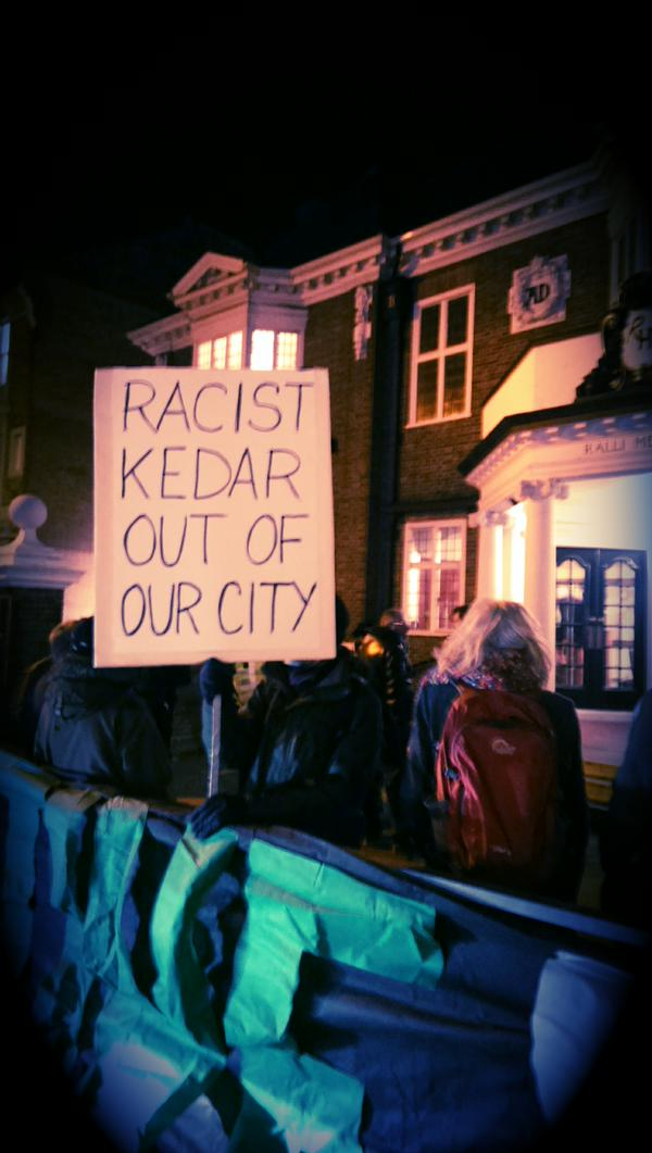 Brighton PSC protest against Mordechai Kedar (2)