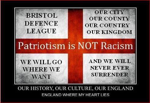 Bristol Defence League patriotism is not racism