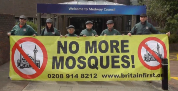 Britain First Kent anti-mosque protest