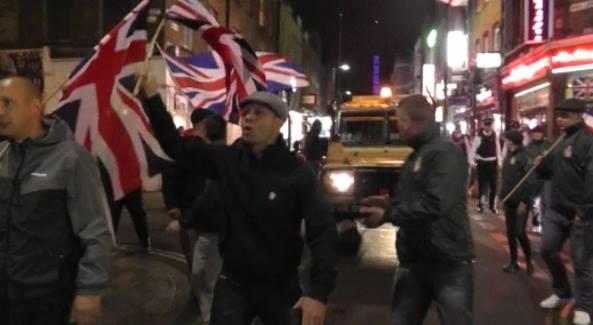 Britain First march through Brick Lane