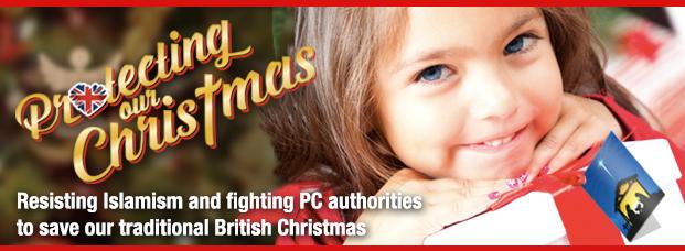 British National Party Protecting Christmas