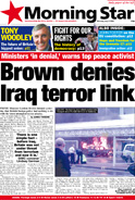 Brown denies Iraq terror link