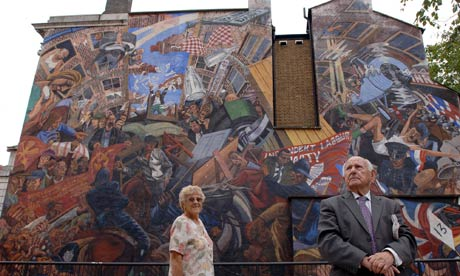 Still battling blackshirts islamophobia watch for Cable street mural