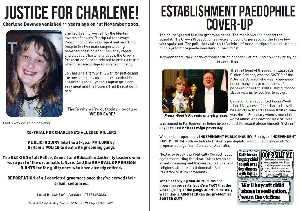 Charlene Downes leaflet