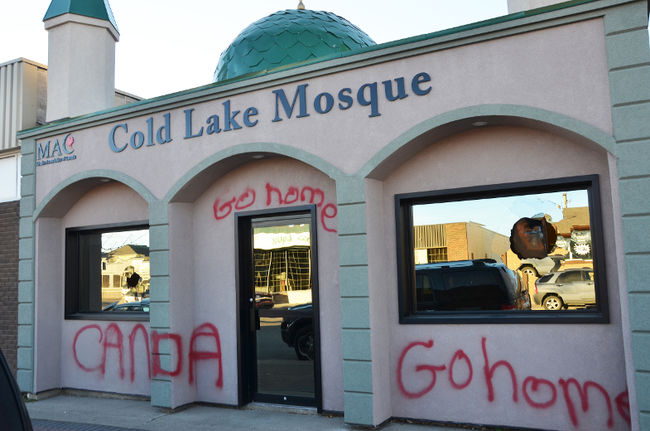 Cold Lake Mosque vandalised