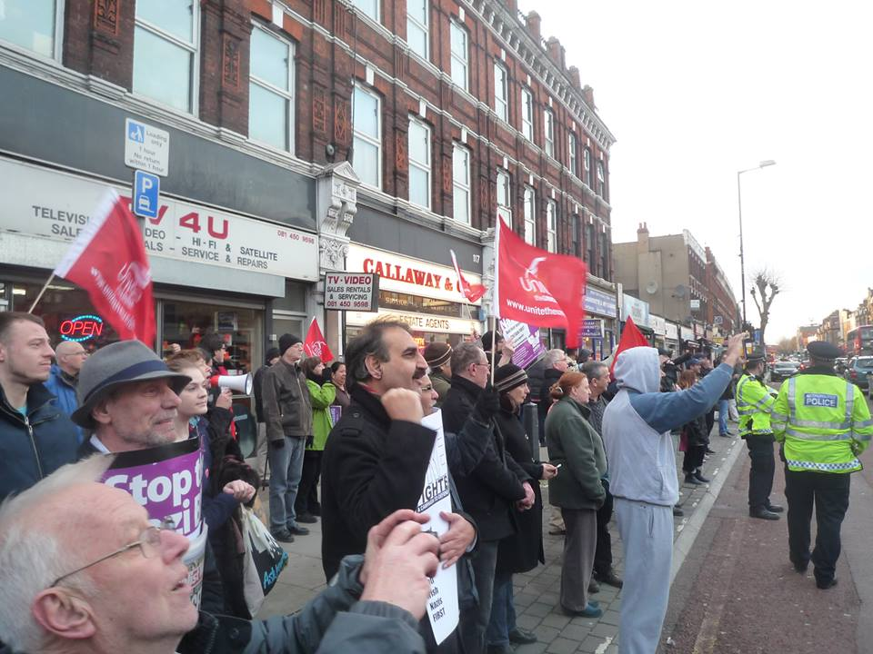 Cricklewood anti-fascist demo