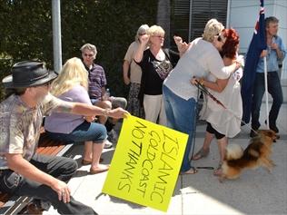 Currumbin anti-mosque protestors celebrate