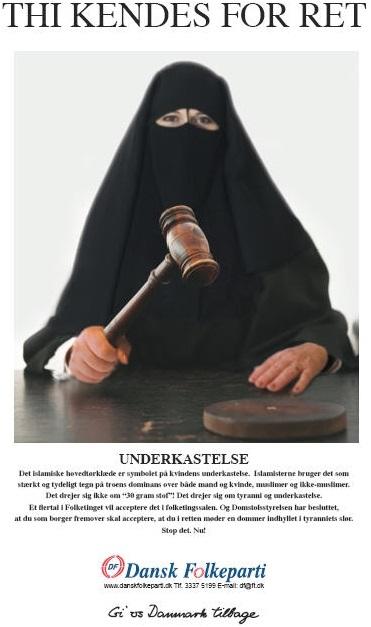 DF niqabi judge poster