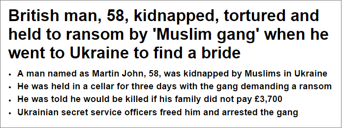 Daily Mail British man tortured by Muslim gang