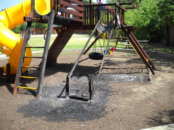 Dar El Eman Islamic Center playground fire