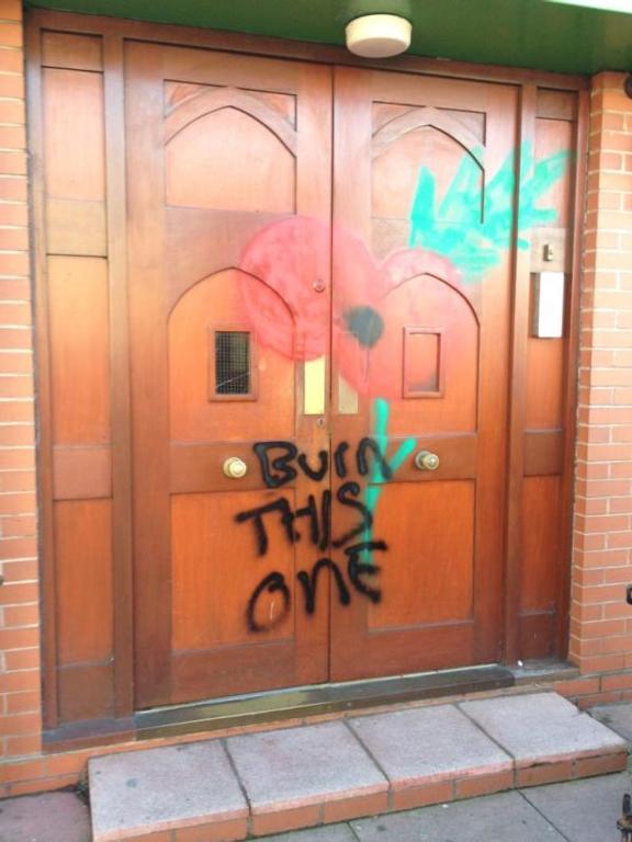 Darlaston mosque graffiti