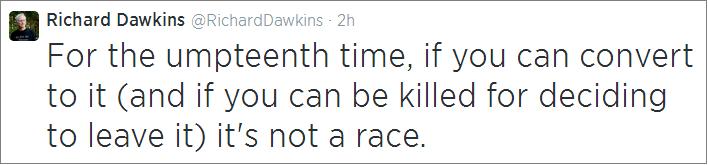 Dawkins on race