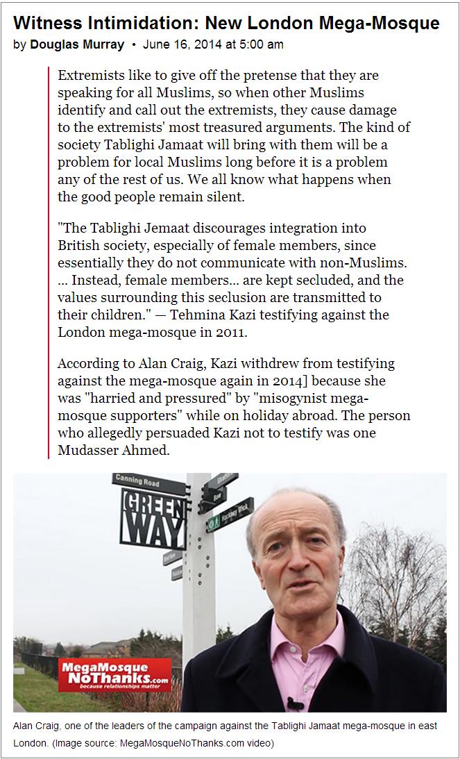 Douglas Murray witness intimidation article