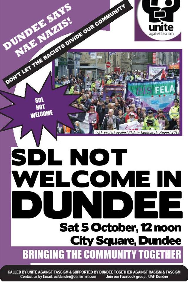 Dundee anti-SDL protest