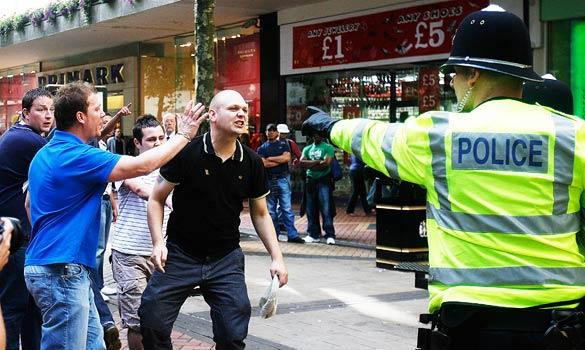 EDL Birmingham protest