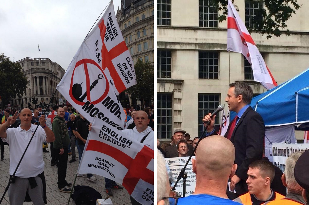 EDL Downing Street demonstration with Paul Weston