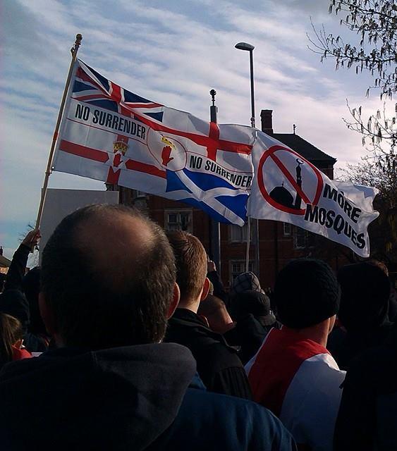 EDL Grantham anti-mosque protest