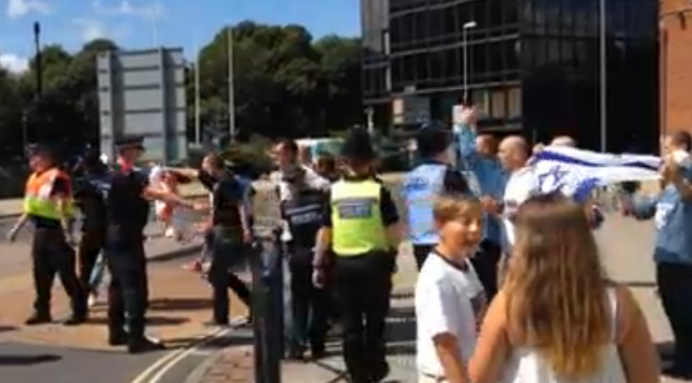 EDL Portsmouth Gaza protest