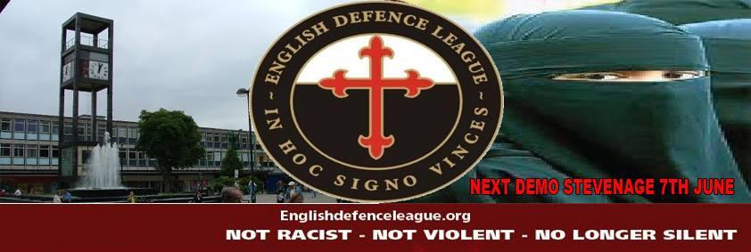 EDL Stevenage protest ad