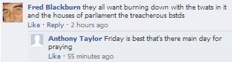 EDL arson threats to Cambridge mosque (2)