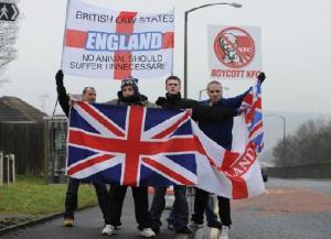 EDL halal protest