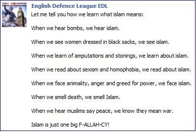 EDL on Islam